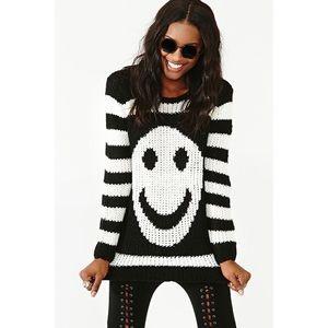Pol nasty gal striped smiley sweater
